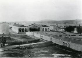 Gare de Cornavin vers 1860, Atelier Boissonnas (Bibliothèque de Genève, FBB P18x24 Clients 11633)