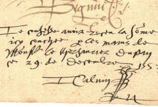 Mandat de Calvin, détail