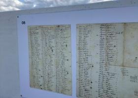 liste des invités à un bal (document conservé aux AEG)