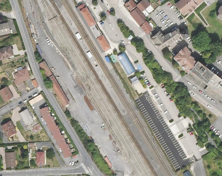 Nouveau P+R de la gare de La-Roche-sur-Foron sur les lignes L2 et L3 du Leman express