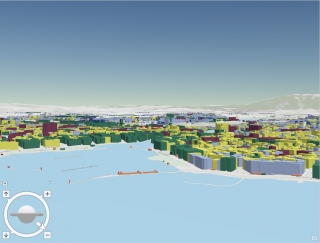 Illustration carte 3D